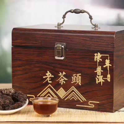 2008年勐海布朗古树老茶头颗颗饱满均匀,粒粒带芽 一盒500g