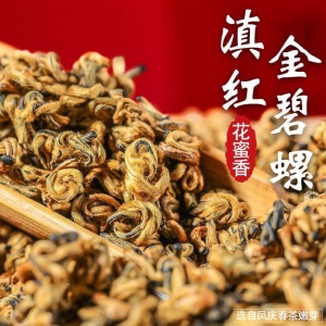 2020新茶头春茶金螺滇红500g云南滇红茶叶蜜香茶金螺单芽红茶
