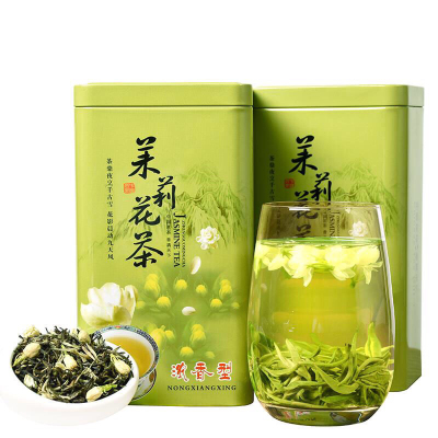 茉莉花茶更送有样品茶,新鲜茉莉花拼合窨制,质朴天成,经久耐泡,茶汤,汤