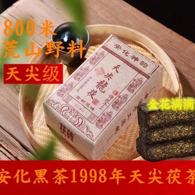 安化黑茶1998年天尖茯茶金花满满 滋味醇厚 入口甜 润 滑