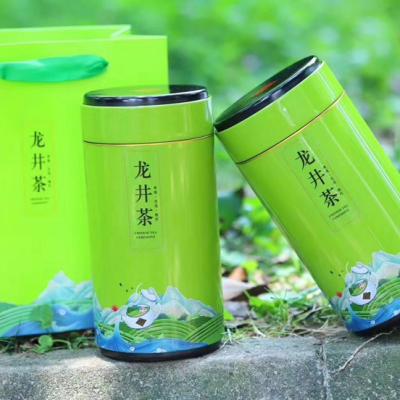 龙井茶【茶叶礼盒】2020新茶雨前高山绿茶茶叶浓香豆香型500g
