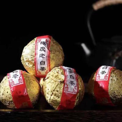 2009年陈皮老白茶:老白茶与老陈皮美丽邂逅,两者搭配,风味一绝。