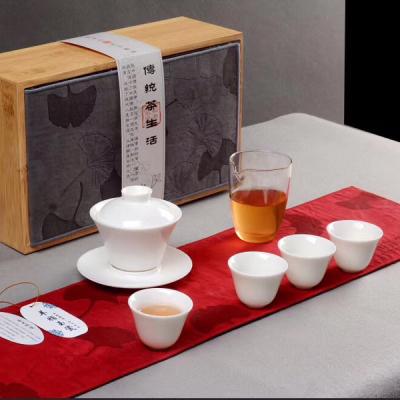 羊脂玉瓷茶具套装/功夫茶具套装/白瓷茶具套装/茶具包邮