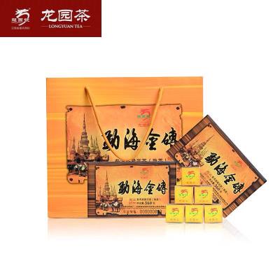 龙园号普洱茶 2018年勐海金砖熟茶 360g  云南乔木老树熟茶