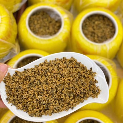 滇红茶叶凤庆滇红金螺滇红大金芽金丝蜜香黄金螺大金针红茶单芽茶陶瓷礼盒装