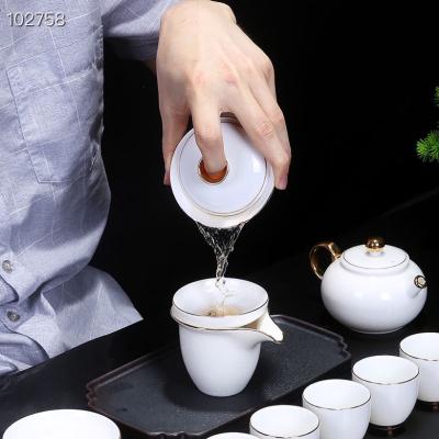 最新🔥爆款……24k金高端猪油白玉瓷茶具套组 配高档礼盒套装