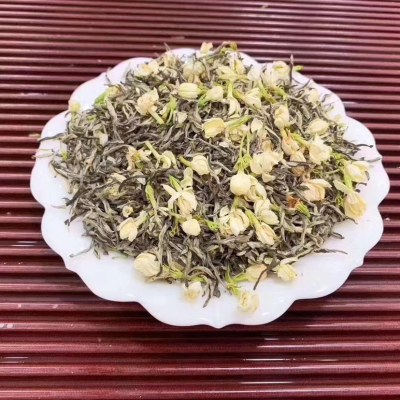 茉莉花茶浓香型500克2021新茶散装飘雪茉莉花绿茶叶礼盒盒装颖品惠
