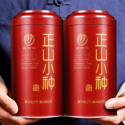 正山小种500克红色铁罐装 ,一提2罐,赠手提袋
