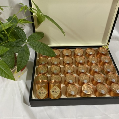 小罐茶30罐500g铁观音金骏眉混合套装胡桃木实木礼盒小罐茶
