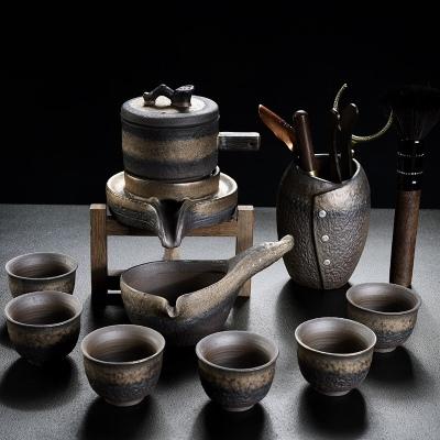 自动懒人茶具套装茶杯家用复古功夫茶具办公粗陶泡茶器简约