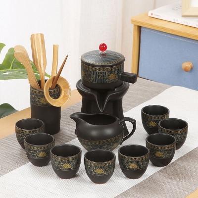 特价懒人自动旋转功夫茶具套装整套家用泡茶器紫砂陶瓷茶壶茶杯子
