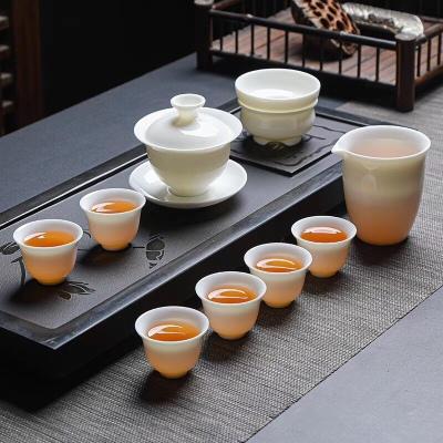 羊脂玉瓷茶具套装/白瓷茶具套装