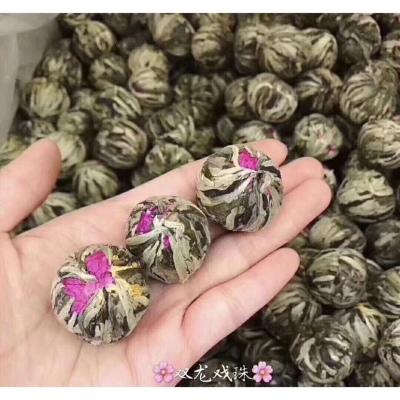 手工艺花茶球双龙戏珠茶会开花的茶观赏瞬间开花茉莉花茶叶500g