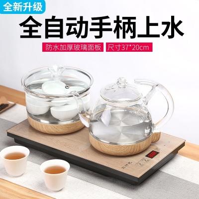 全自动电热烧水壶玻璃泡茶壶专用底部抽水加水茶炉茶具套装 http