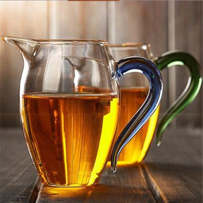 加厚手工加厚耐热玻璃公道杯企鹅杯功夫茶茶海公杯大小分茶器茶道配件