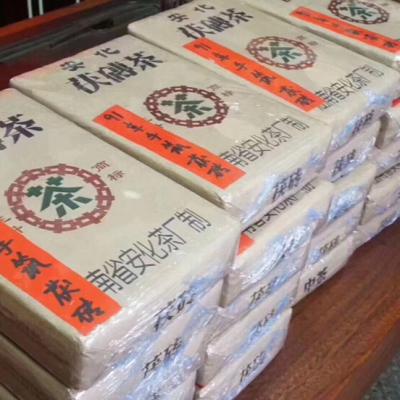 91年安化茯砖茶陈年金花茯砖手筑茯砖湖南安化黑茶1991年1000g