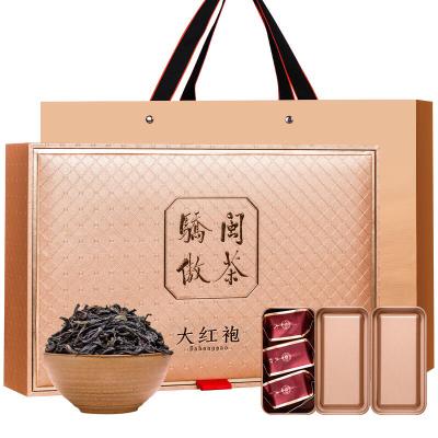 节日送礼豪华礼盒 武夷山大红袍茶叶福建岩茶浓香型小罐装袋装罐装288g