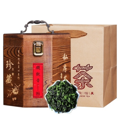 新茶木盒装铁观音茶叶浓香型兰花香乌龙茶500g高端特级珍藏礼盒装