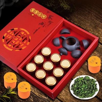 高档铁观音茶叶礼盒装 福建绿茶乌龙茶正品兰花香浓香型 优质礼盒装