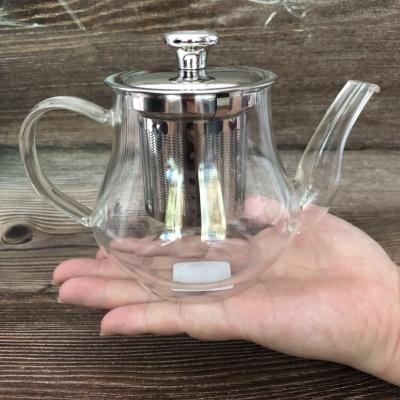 耐热高温玻璃茶壶加厚功夫泡茶壶家用过滤花茶壶红茶茶具400ml