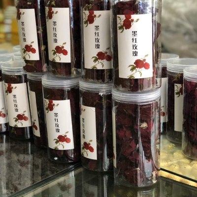 2020年墨红玫瑰冻干大朵,玫瑰香味持久汤润滋喉! 50克一罐