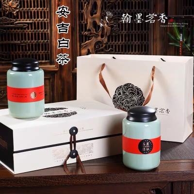 安吉白茶2020新茶特级礼盒装高档绿茶送礼正宗白茶陶瓷罐散装茶叶