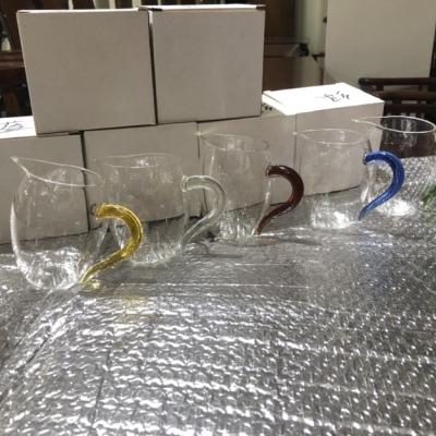 公道杯加厚玻璃耐热透明泡茶过滤公杯茶漏套装茶具高档一体分茶器,两个包邮