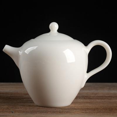 羊脂玉瓷泡茶壶陶瓷泡茶壶玉瓷泡茶壶