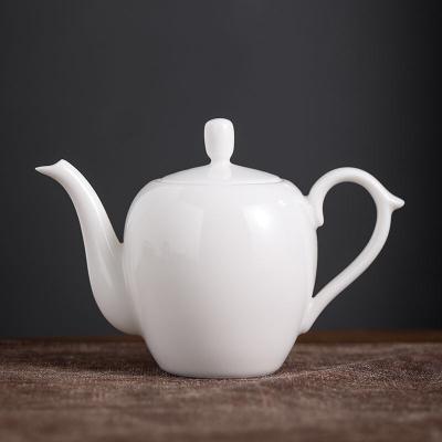 羊脂玉瓷泡茶壶羊脂玉瓷贵妃壶陶瓷小茶壶