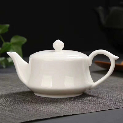 羊脂玉瓷泡茶壶陶瓷小茶壶中国风仿古小茶壶冰清玉洁泡茶壶