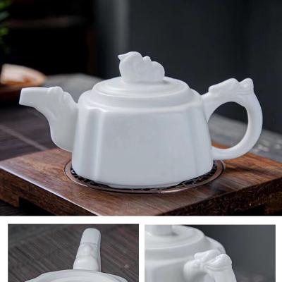羊脂玉瓷泡茶壶貔貅泡茶壶中国风小茶壶陶瓷壶精品级别不接受退换货