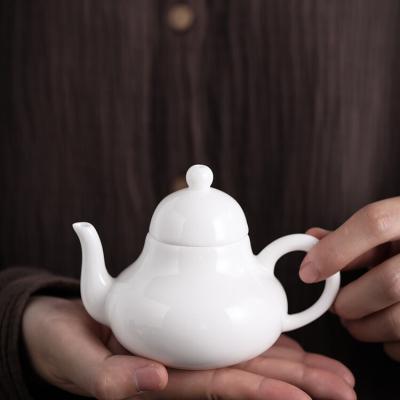 羊脂玉瓷茶壶陶瓷泡茶壶中国风仿古小茶壶