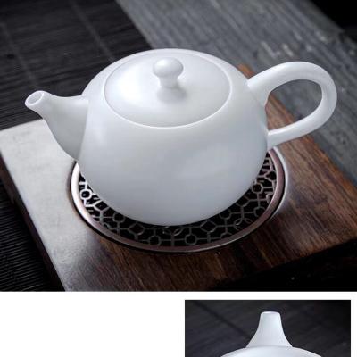 羊脂玉瓷素烧泡茶壶陶瓷小茶壶中国风仿古茶壶西施壶