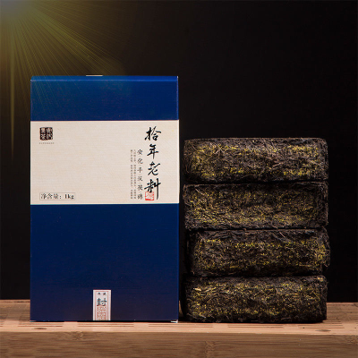 老料手筑金花黑茶茯砖湖南安化1kg