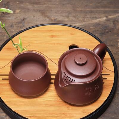 竹节公道壶套装紫砂壶茶壶茶杯