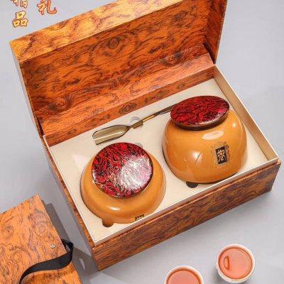 中秋送礼正山小种武夷山红茶 高档送礼茶叶礼盒装500g陶瓷罐装