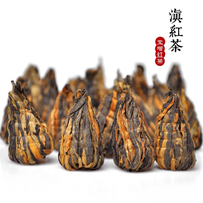 2021新茶滇红金丝金芽宝塔云南凤庆滇红古树红茶蜜香型手工宝塔250g