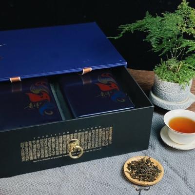 华夏梦—蓝色妖姬黄茶礼盒,选取精品春茶以特有焖黄技术匠心打造,300克