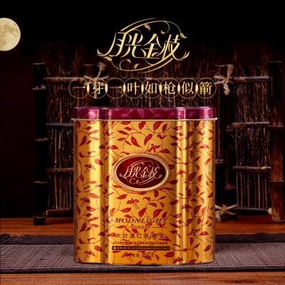 七彩云南 茗月红月光金枝大叶滇红茶散茶150g铁罐装滇红茶