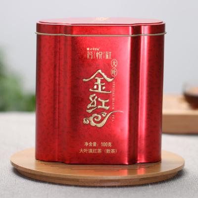 七彩云南大叶金红 凤庆滇红茶散茶 庆沣祥工夫红茶100克罐装包邮