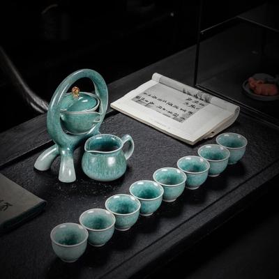 窑变防烫半全自动茶具套装家用客厅整套办公室懒人冲茶器功夫茶杯