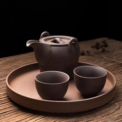 陶迷创意原矿茶壶家用大容量陶瓷手抓壶过滤小单壶客厅功夫泡茶器