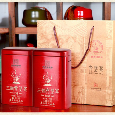 三鹤六堡茶【红罐2020】2018年特级散茶200g广西梧州茶厂黑茶叶
