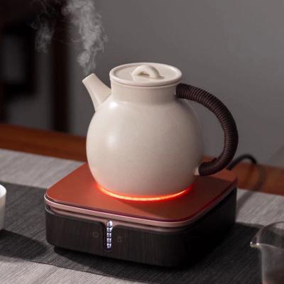 德茗堂猫眼二代迷你电陶炉茶炉电热炉小型静音家用煮茶壶底座