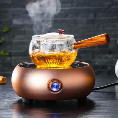 木把蒸煮茶壶玻璃侧把煮茶器耐热小青柑泡茶壶功夫茶具套装