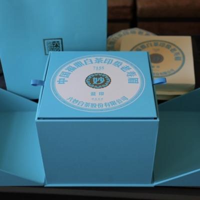 六妙白茶蓝印寿眉茶饼2017年原料2020出厂福鼎老白茶300克*5饼