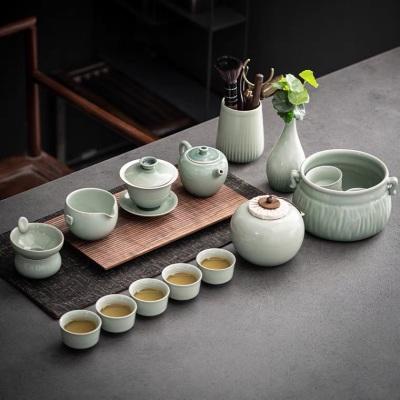 日式简约茶壶茶具套装家用功夫茶杯客厅陶瓷办公室会客泡茶
