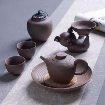 无釉粗陶福猪茶滤过滤网瓷茶隔茶漏茶叶滤茶器漏斗创意茶道配件