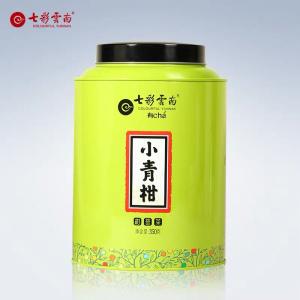七彩云南特级新会小青柑普洱茶熟茶陈皮青柑柑普普洱尊享罐装350g