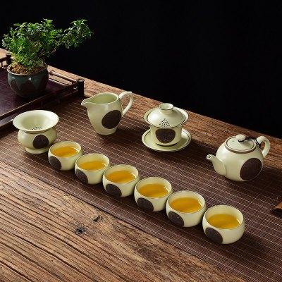 汝窑茶具开片可养礼品功夫高档礼盒整套陶瓷茶具套装支持logo定制